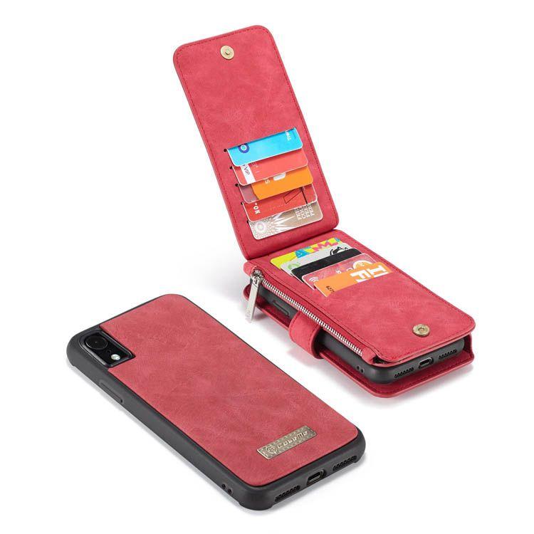 Caseme iphone xr zipper wallet detachable 2 in 1