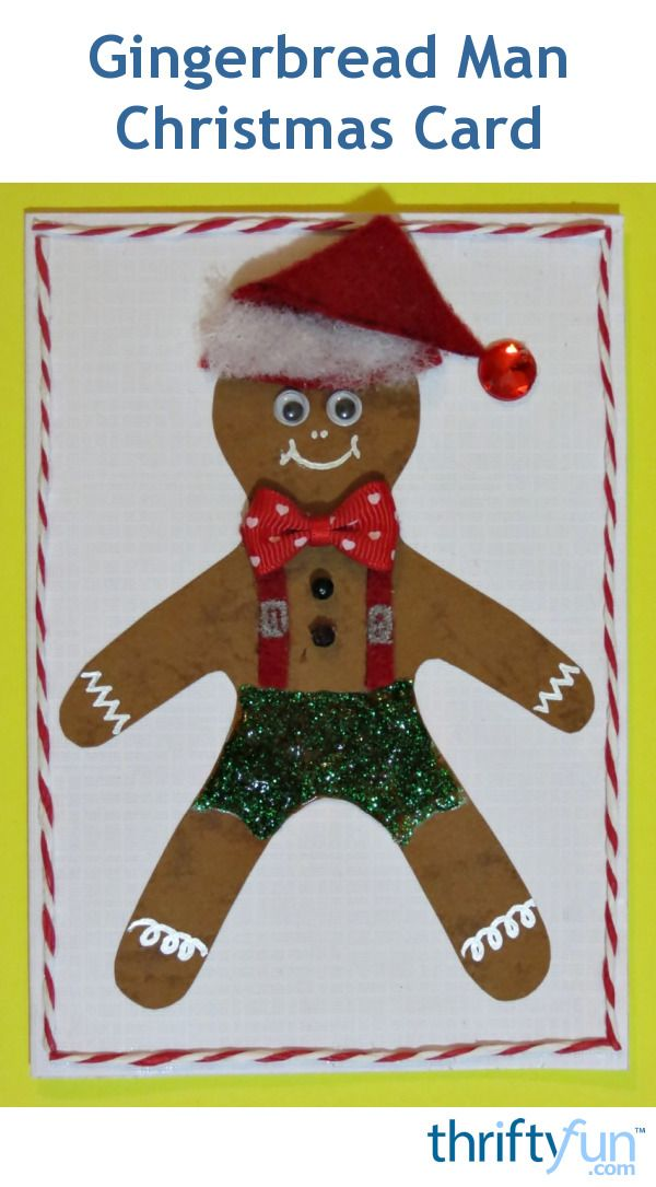 Making Gingerbread Man Cards Gingerbread man, Man card and Gingerbread