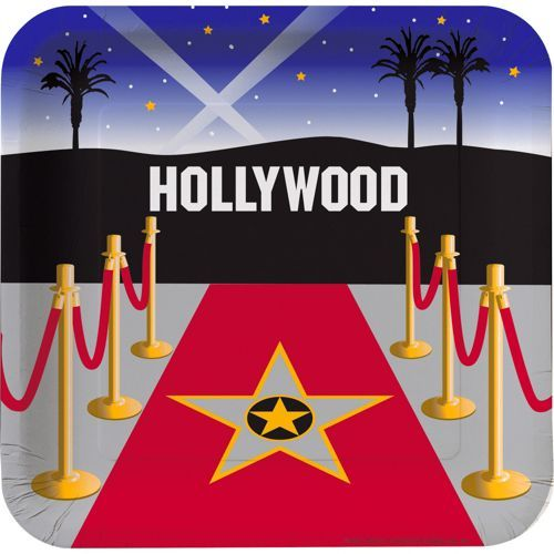 Movie Party Dinner Plates - Movie Party Supplies
