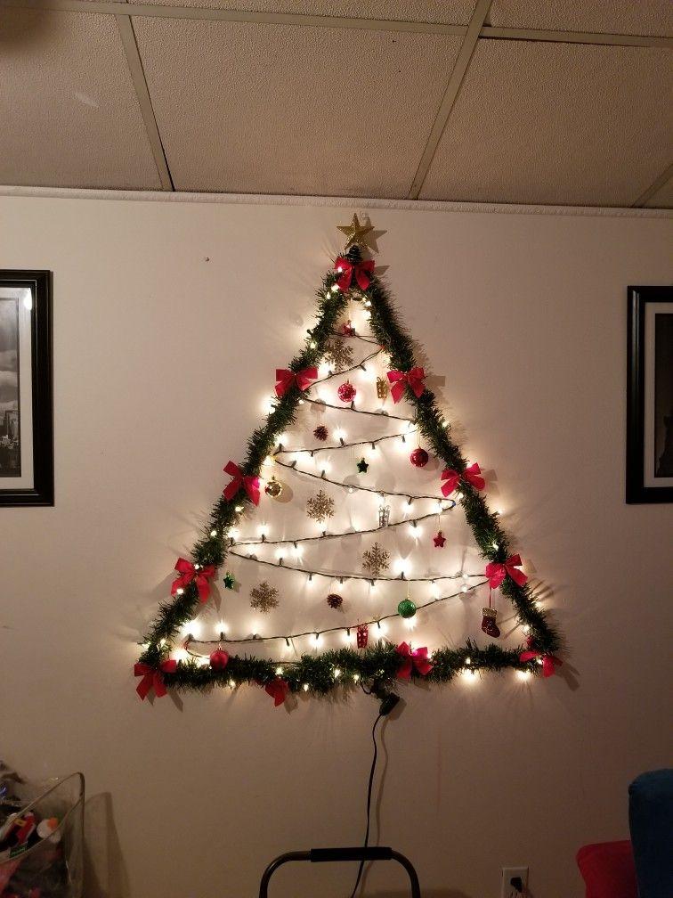Flat Wall Christmas Tree Wall Christmas Tree Diy Christmas Tree Small Christmas Trees