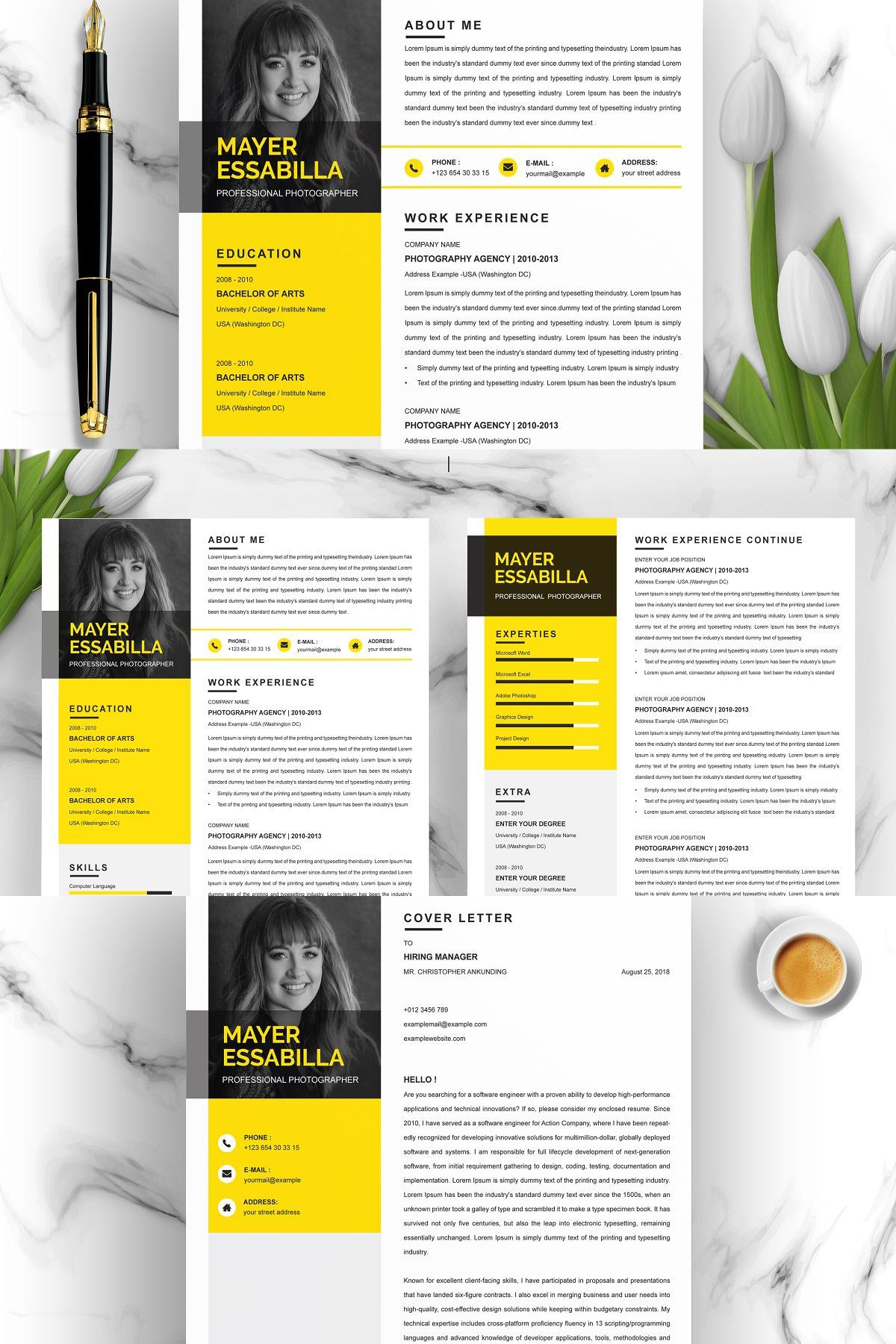 INCLUDES 3 Page Resume Templates (if you need more pages
