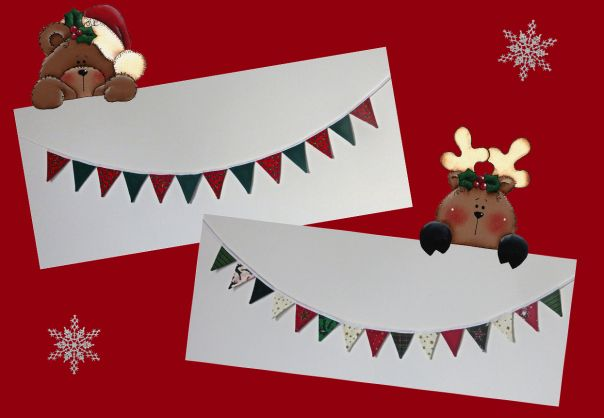 Mini bunting only 7cms high! Very cute!! #bunting #Christmas