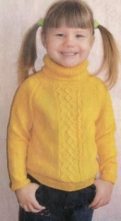 Схема детского свитера на спицах для начинающих