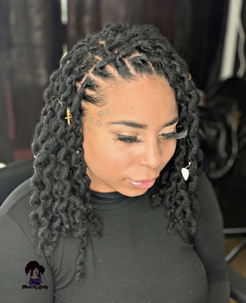 Loc Extensions After Two Strand Twist Faux Locs Hairstyles Locs Hairstyles Hair Styles