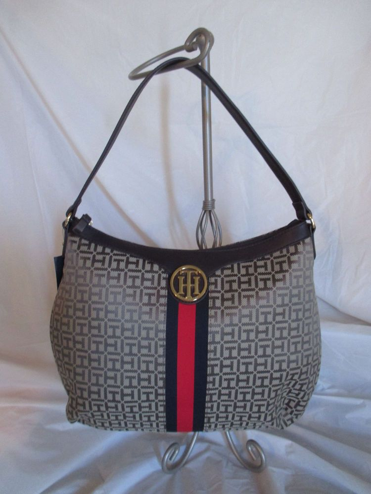 Tommy Hilfiger Brown Red Handbag Purse Authentic Brand New Hobo II 6935786  272  TommyHilfiger  Satchel 3226dadbea751
