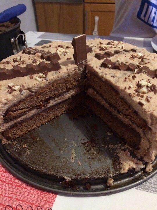 kinderschokolade torte kuchen kinder schokolade
