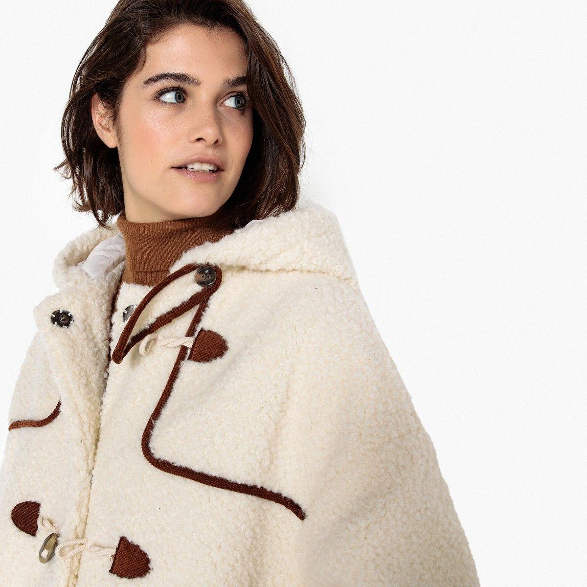 nouvelles images de chaussures d'automne qualité supérieure Teddy Faux Fur Hooded Duffle Coat in 2019   hair   Duffle ...