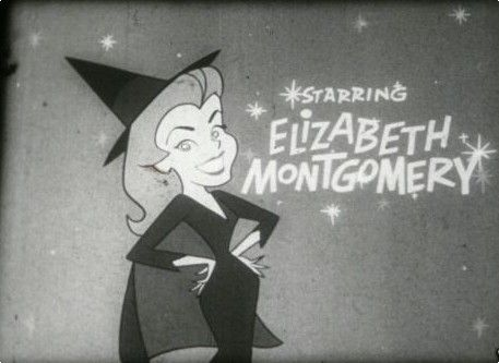 Still shot of the credits from 'Bewitched' starring Dick York and Elizabeth Montgomery
