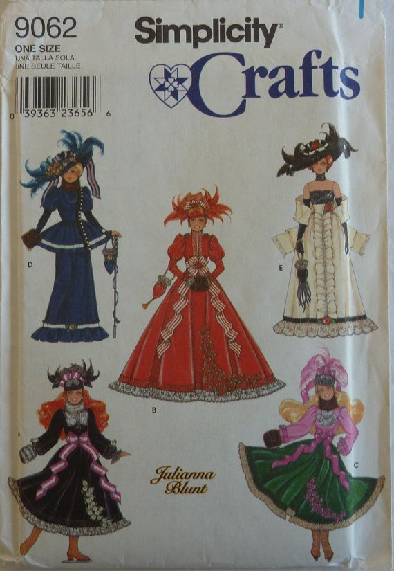 Sewing Pattern Simplicity Crafts 9062 - Historical Clothes for 11 1 ...