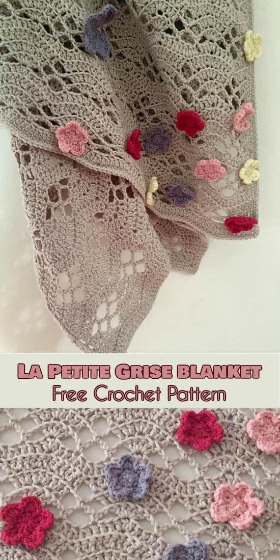 Beauty] La Petite Grise Blanket [Free Crochet Pattern] | crochet ...