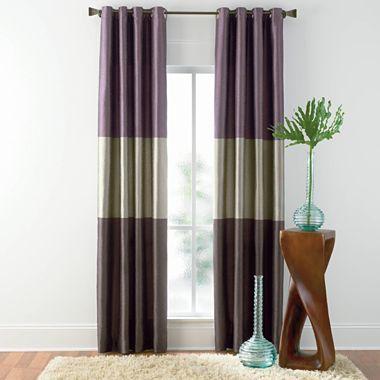 Studio Trio Grommet Top Curtain Panel Jcpenney Grommet Top
