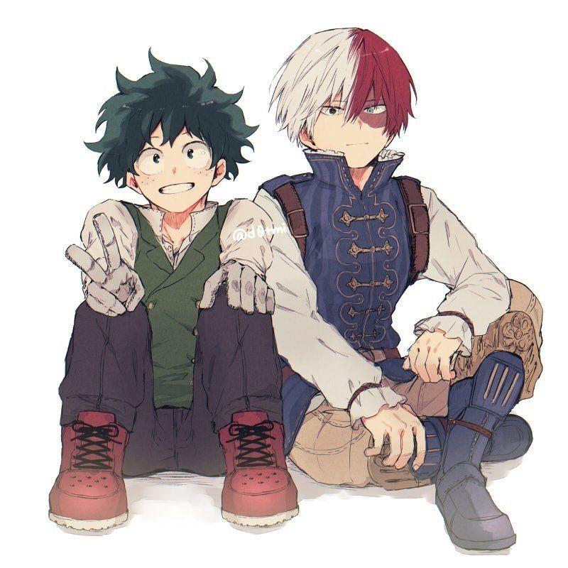 Izuku & Shoto | My hero, My hero academia shouto, Boku no hero academia