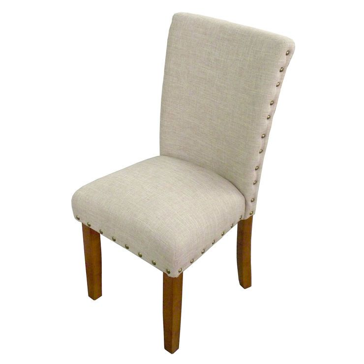 Parsons Chair Rustic Tan Nail Head Option For New Dining Chairs With A Table