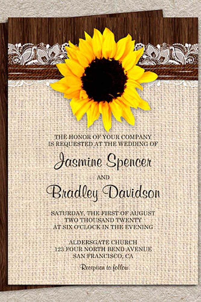 sunflower wedding invitations printable%0A    Shiny Sunflower Wedding Invitations