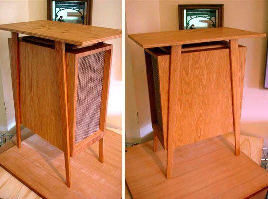 A Diy Mid Century Modern Pc Tower Diy Modern Furniture Mid Century Interior Design Mid Century Modern Desk