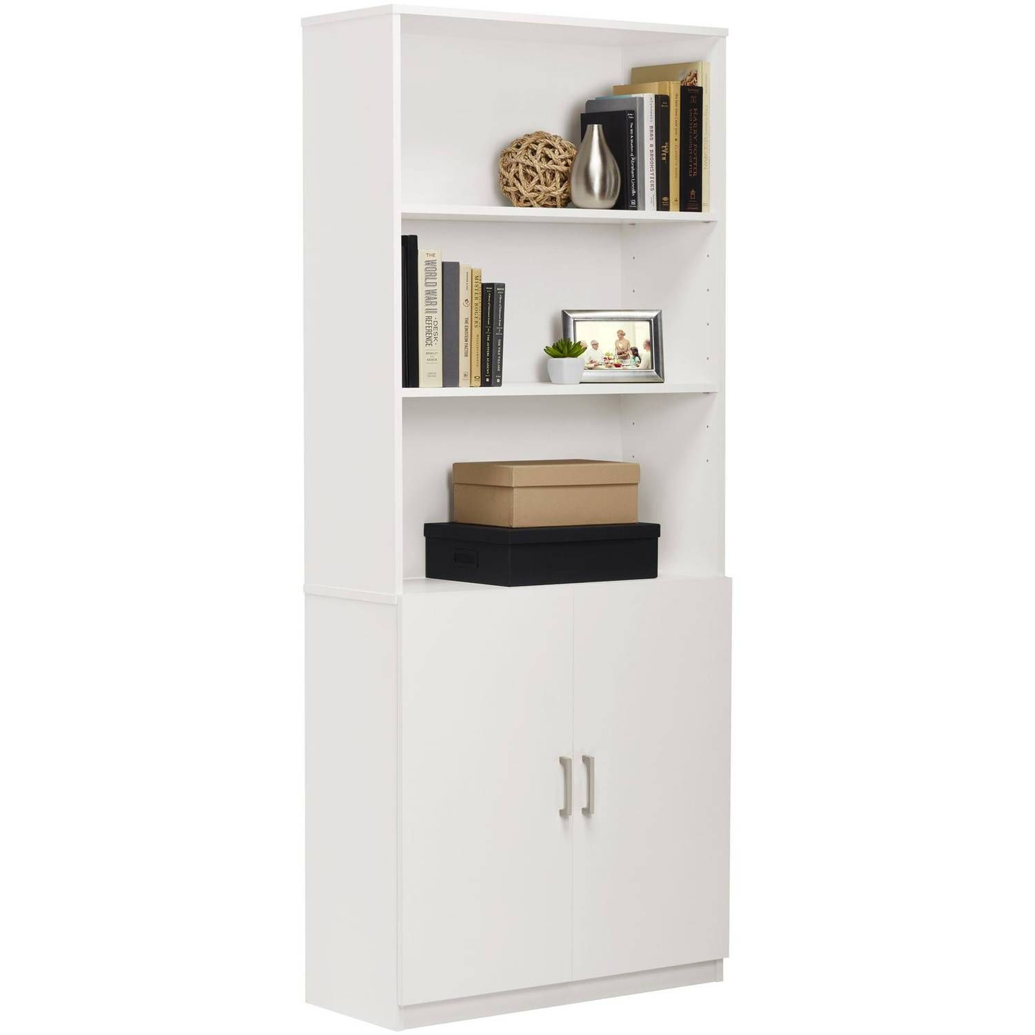 Ameriwood 3 Shelf Bookcase With Doors Multiple Colors