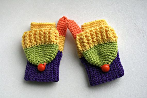 Crochet Pattern Crochet Fingerless Mittens Crochet Mittens Pattern