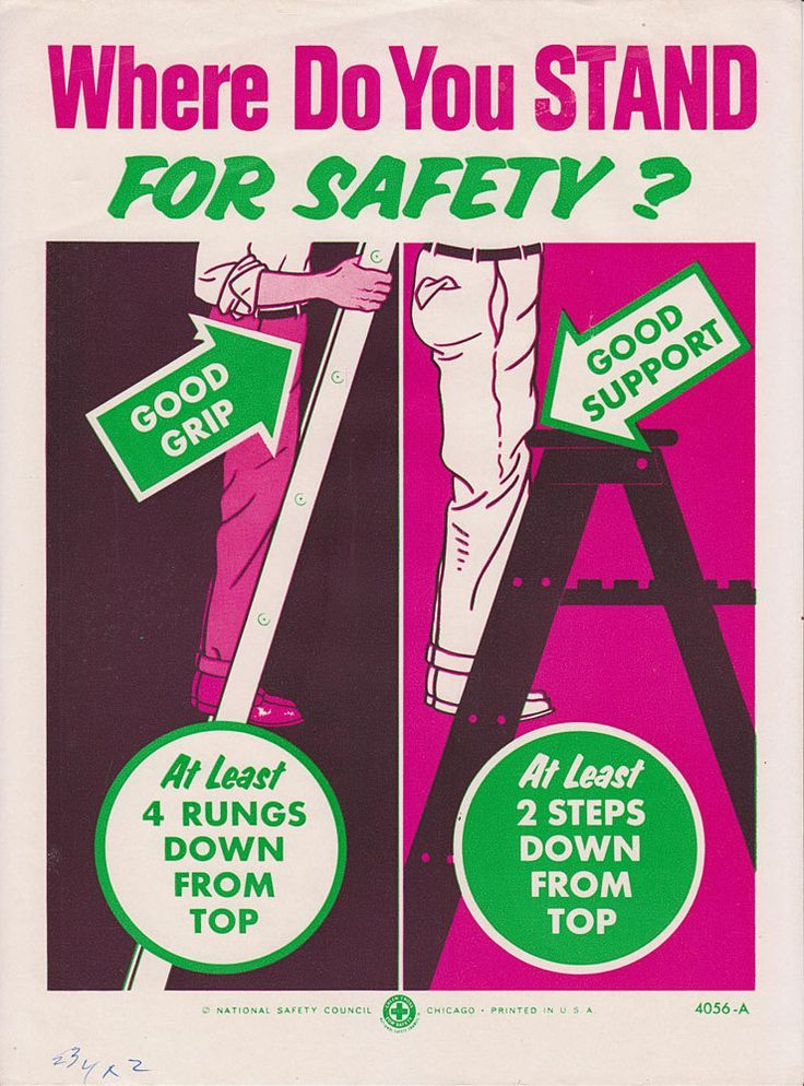 Ladder safety. Safety posters, Workplace safety, Safety