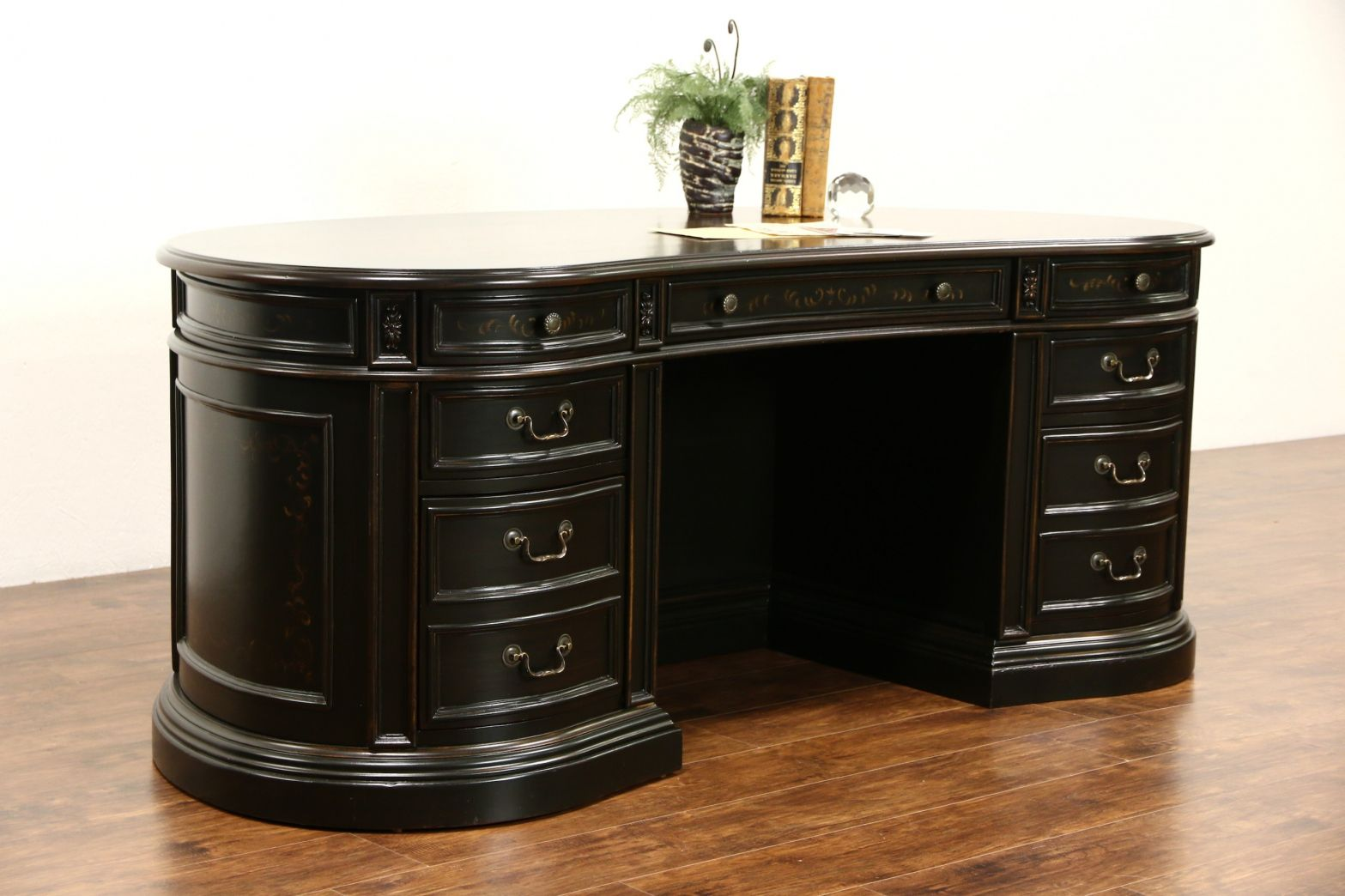kidney shaped executive desk home office furniture set check