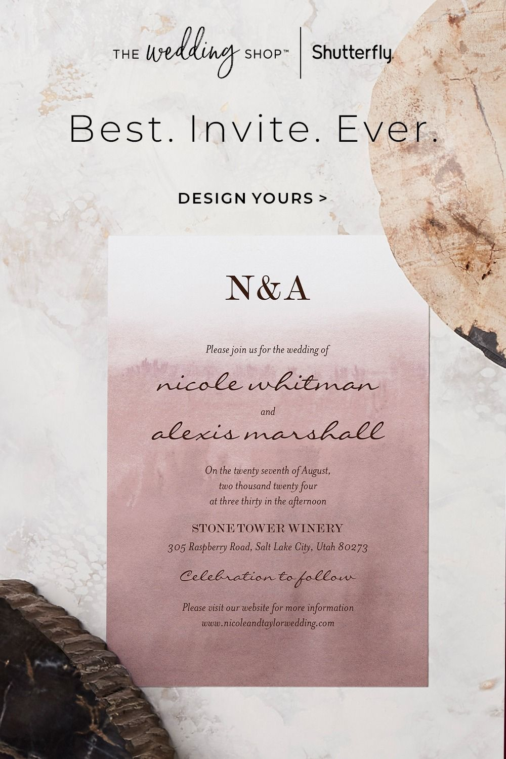Personalize Your Perfect Wedding Invitation From The Wedding Shop By Shutterfly In 2021 Wedding Invitations Dream Wedding Venues Wedding