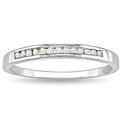 Celebrate Your Love For One Another With This Brilliant 10 Karat White Gold Wedding Bandswedding