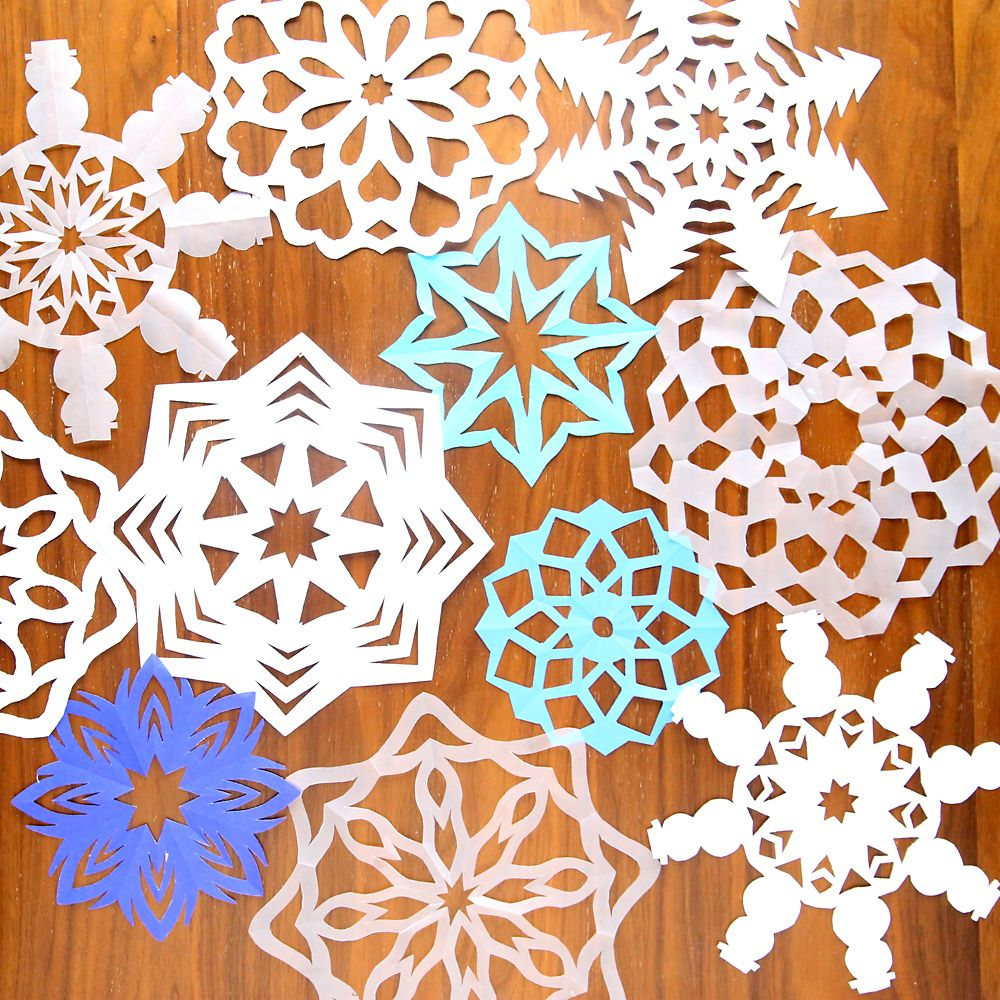 how to cut snowflakes video tutorial free templates Paper