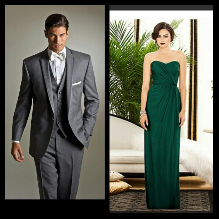 Emerald Bridesmaid Dresses and Tux