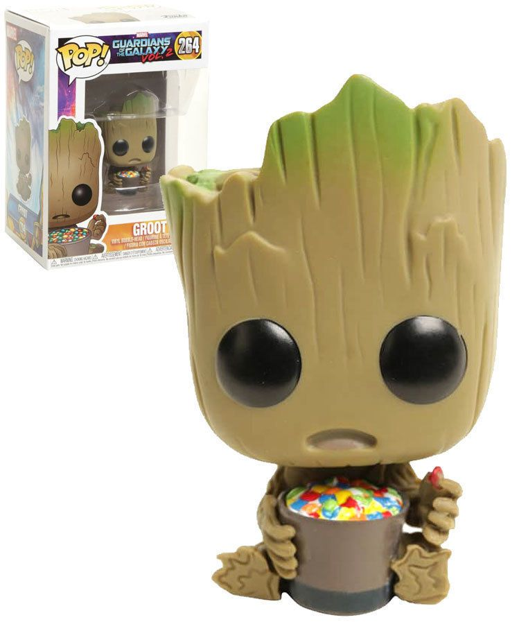 Baby Groot With Cereal Funko Pop Funko Pop Funko Pop
