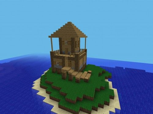 10 Island shack Minecraft Pinterest Pocket edition