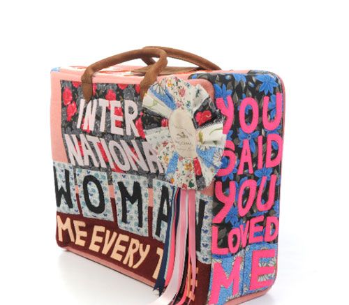 Tracey Emin Piece, on a suitcase. #traceyemin http://www.widewalls.ch/artist/tracey-emin/