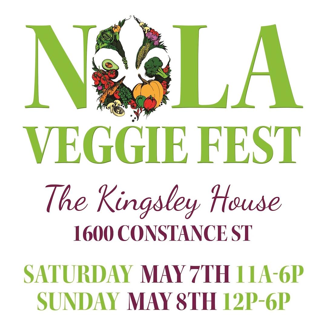 NOLA Veggie Fest is this weekend! General admission is FREE this year! May 7-8, 2016 #veganNOLA #geauxvegan #nolaveggiefest