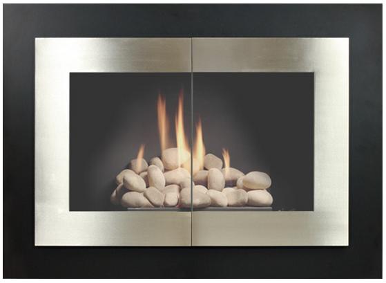 The Manhattan fireplace door has clean, contemporary look ...