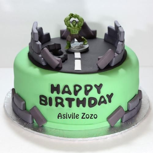 The Incredible Hulk Birthday Cake With Your Name Asivile