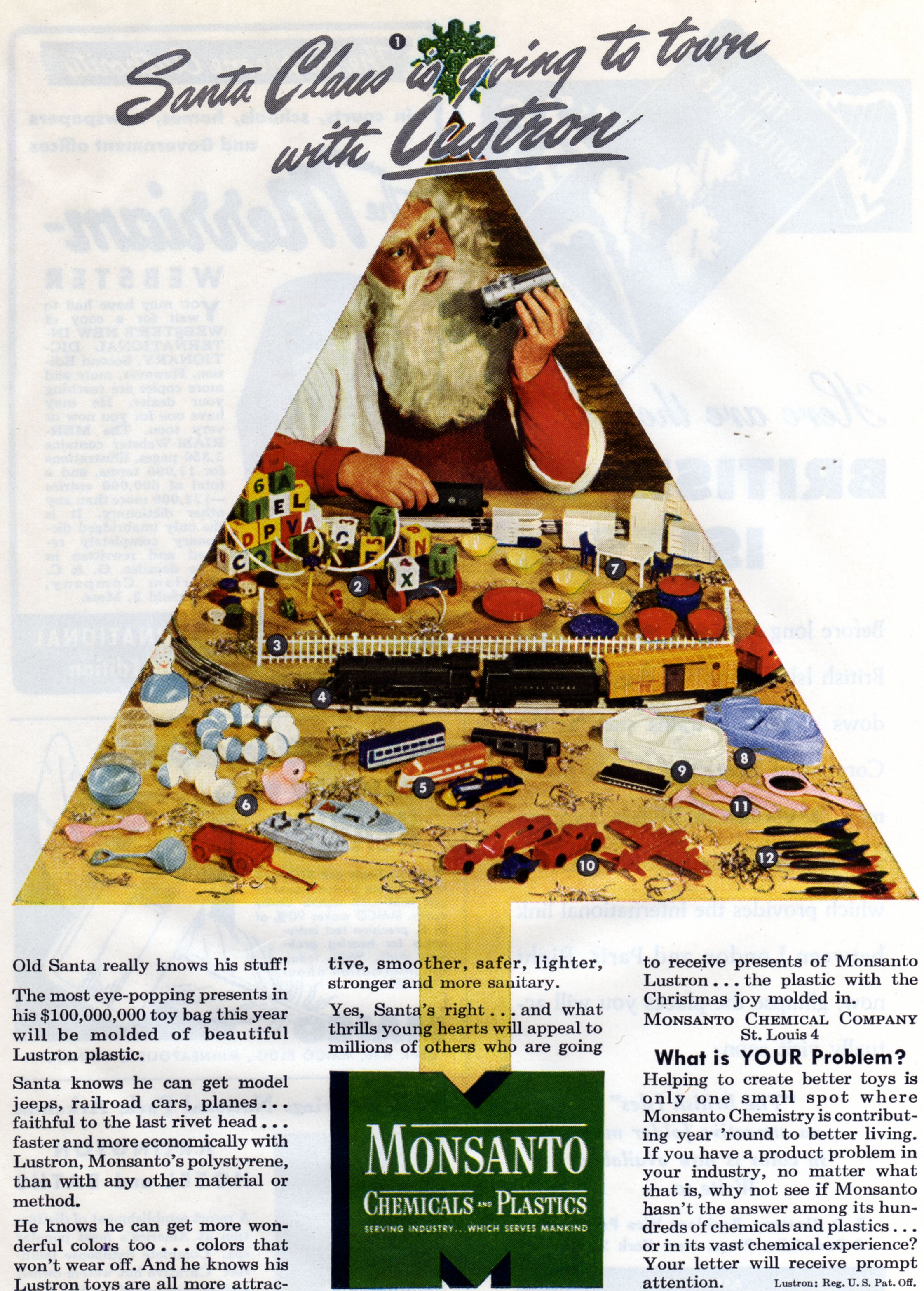 Christmas tree ad for Monsanto.Yikes. Oh, we were so naive back then..