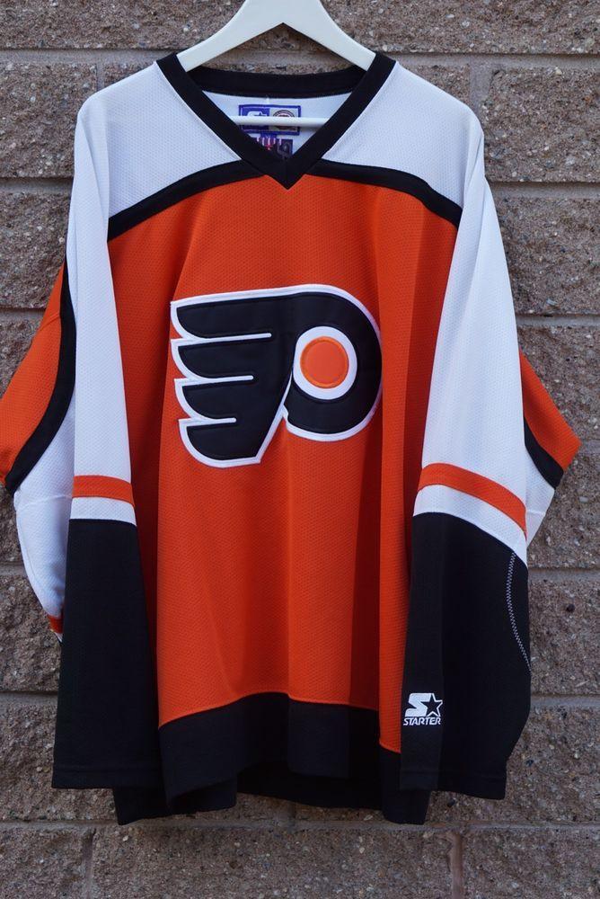 Starter Nhl Philadelphia Flyers Hockey Jersey Size Xl Ebay Philadelphia Flyers Hockey Flyers Hockey Nhl Jerseys