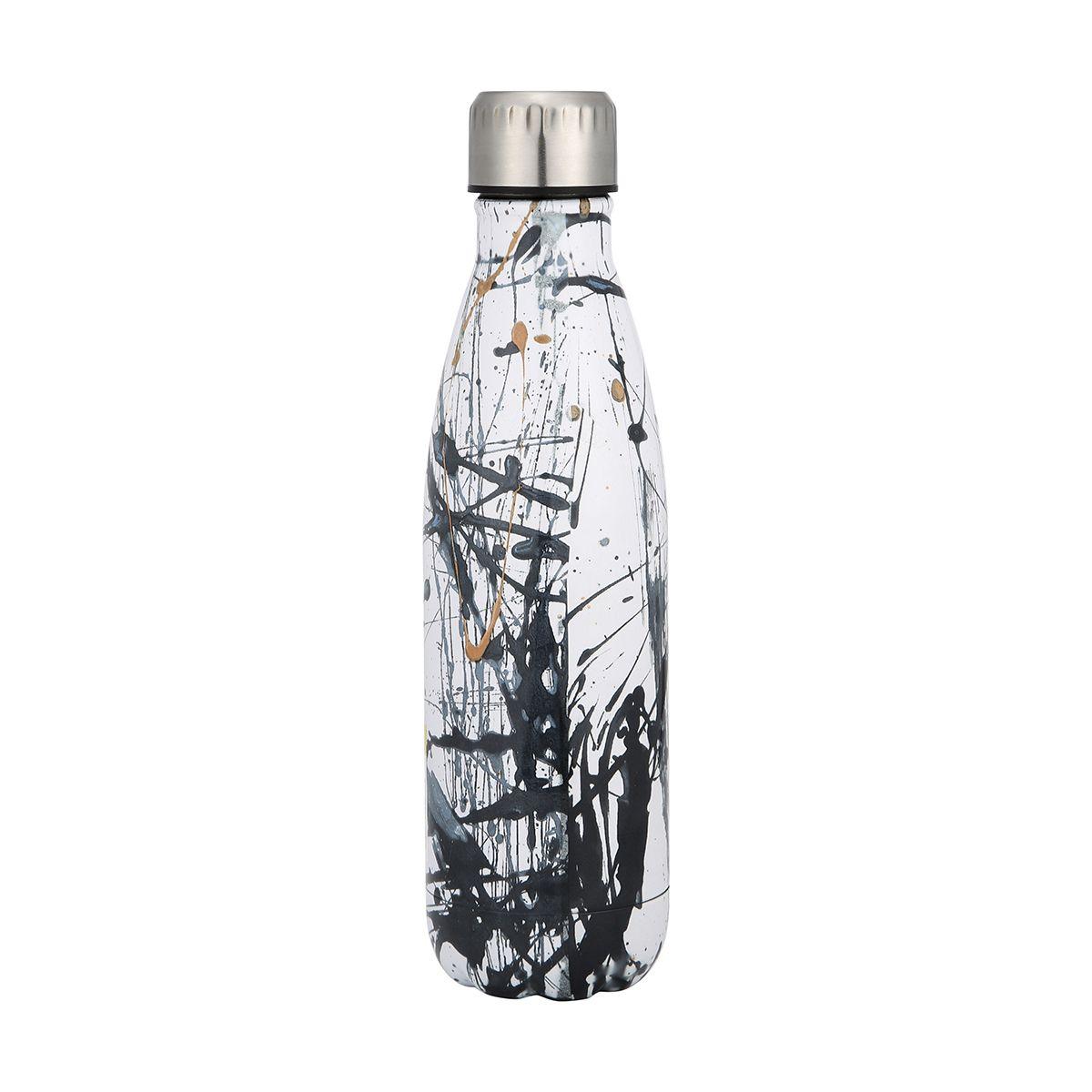 Double wall insulated bottle 500ml ink splat kmart