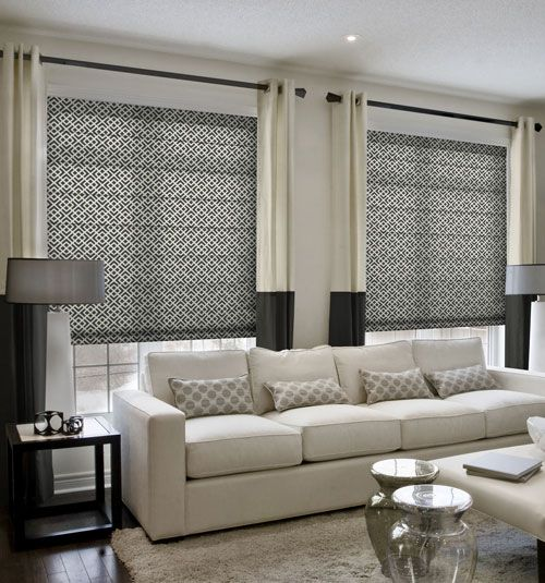 Simply Chic Roman Shade Patterns Window Treatments Living Room Curtains Living Room Farm House Living Room