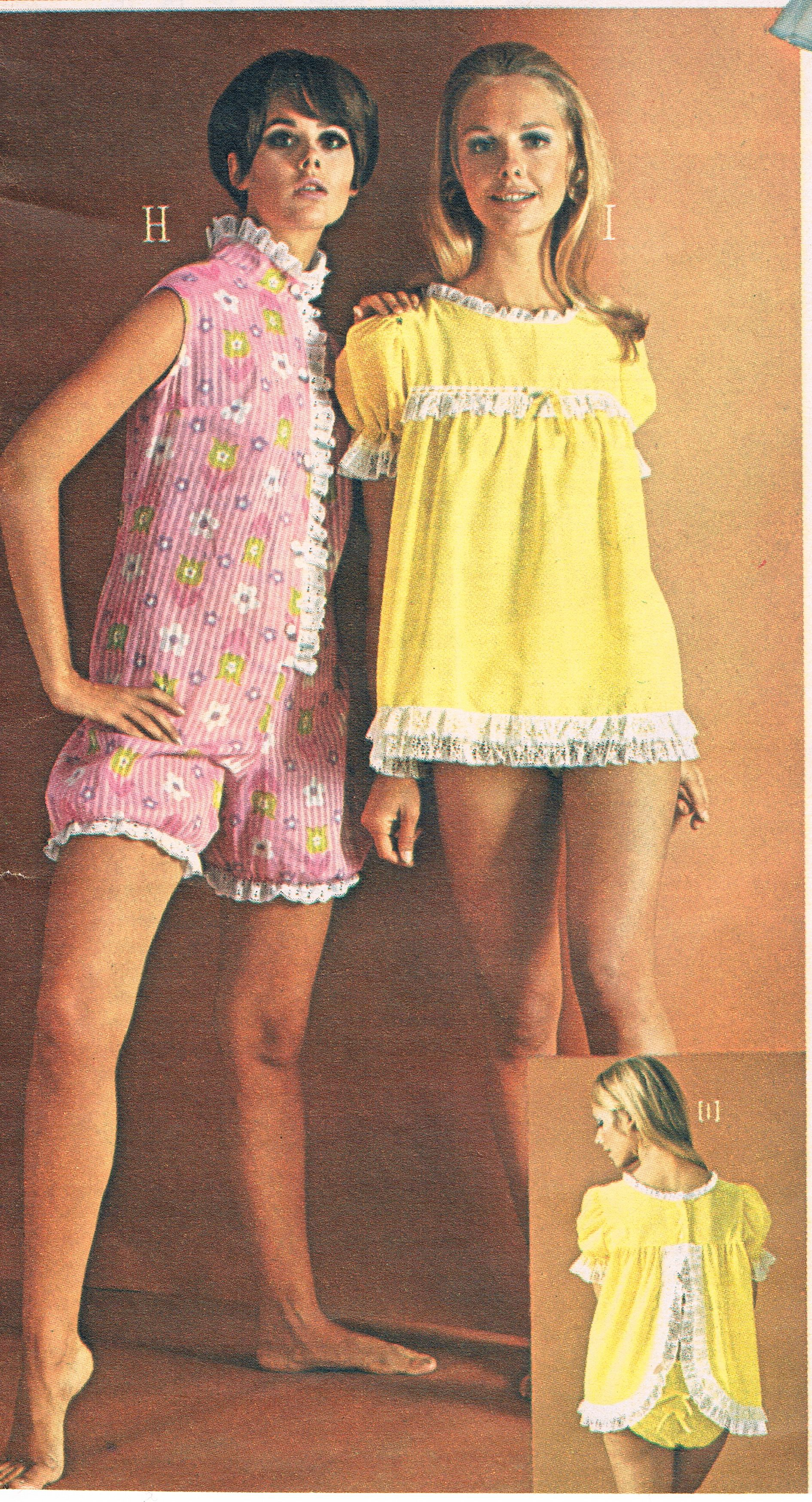 b6d4423f12 Penneys catalog 60s. Colleen Corby and Cay Sanderson. Baby Doll PJs Baby  Doll Pajamas