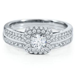 Vivaldi 3/4ct TW Diamond Engagement Ring Set in 14K Gold - Bridal Sets - Engagement & Wedding - Helzberg Diamonds