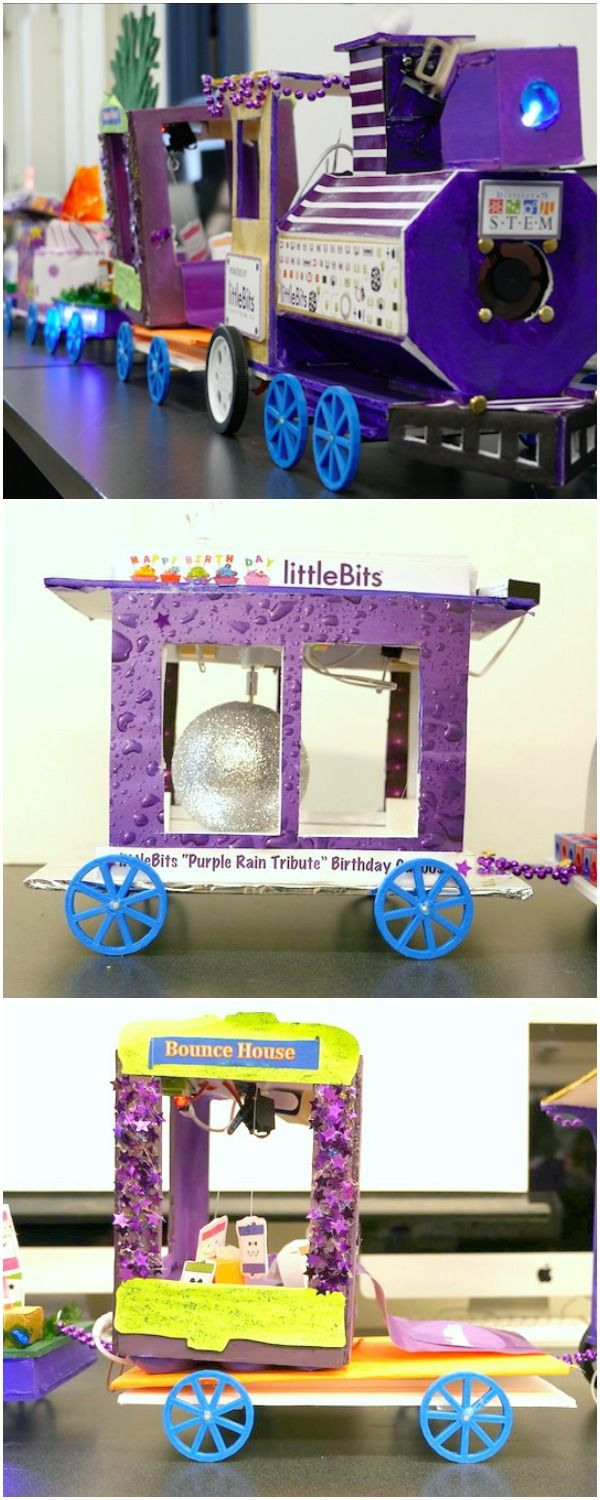 In This Stem Design Challenge Participants Used Littlebits To Create Introduces Your Kids Fun Modular Electronic Projects Train Cars For A Birthday