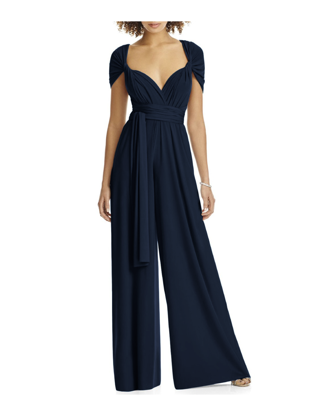 77117316179 New Collection  Dress and Charm wide leg Convertible Bridesmaid Jumpsuit  for weddings lets any bridesmaid