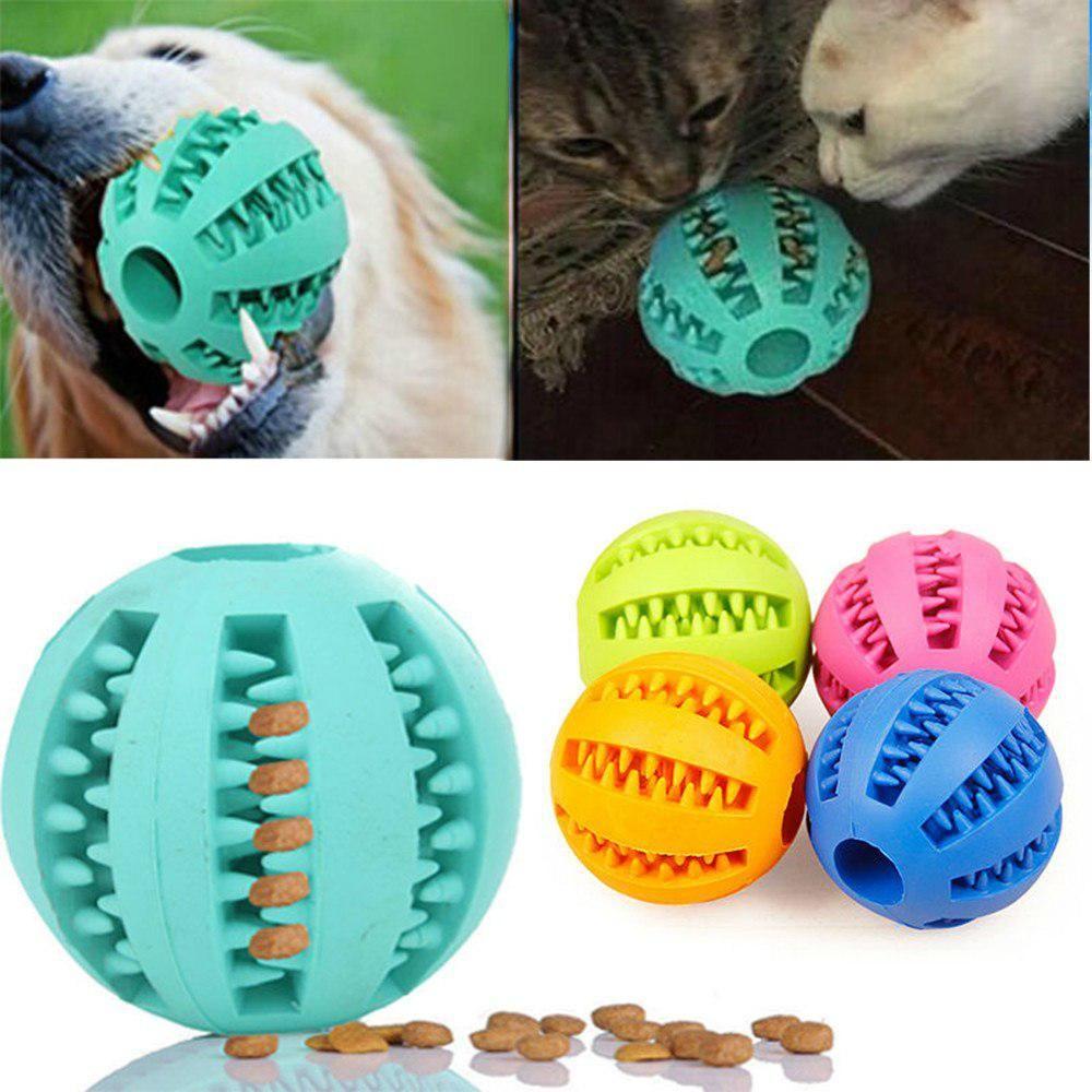 Pet Cat Dog Toy Rubber Balls Pet Cat Puppy Chew Toys Ball Teeth