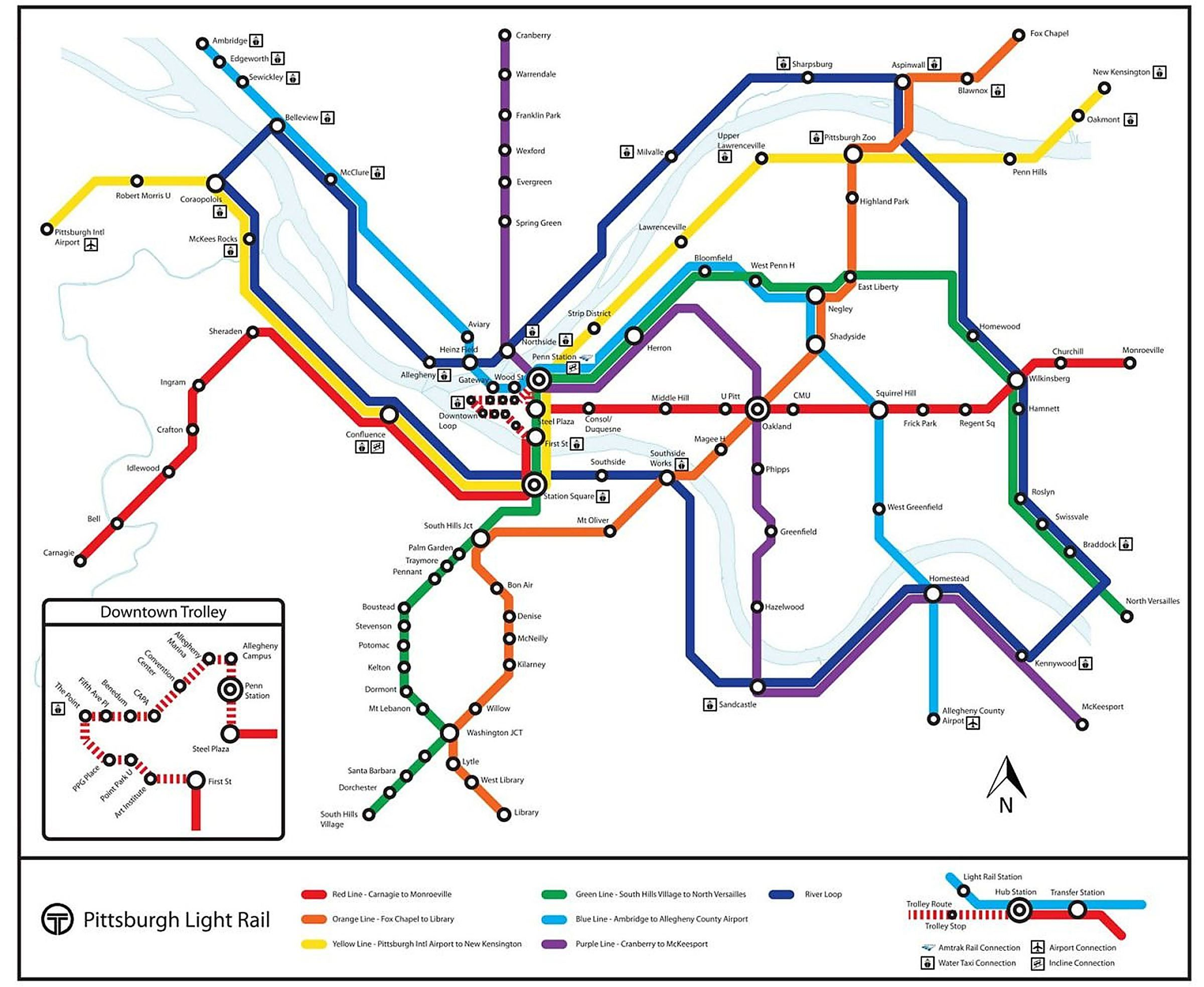 Pittsburgh T Subway Map.Walkabout0418 Subway Map Subway Map Designed By Ben Samson P