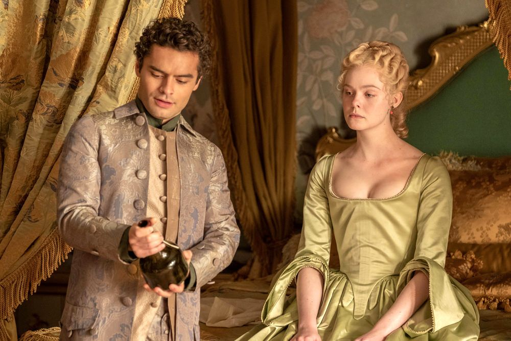 Eye Candy A Gallery Of The Stunning Costume Design Of Hulu S The Great Tom Lorenzo In 2020 Elle Fanning Costume Design Hijab Fashion Inspiration