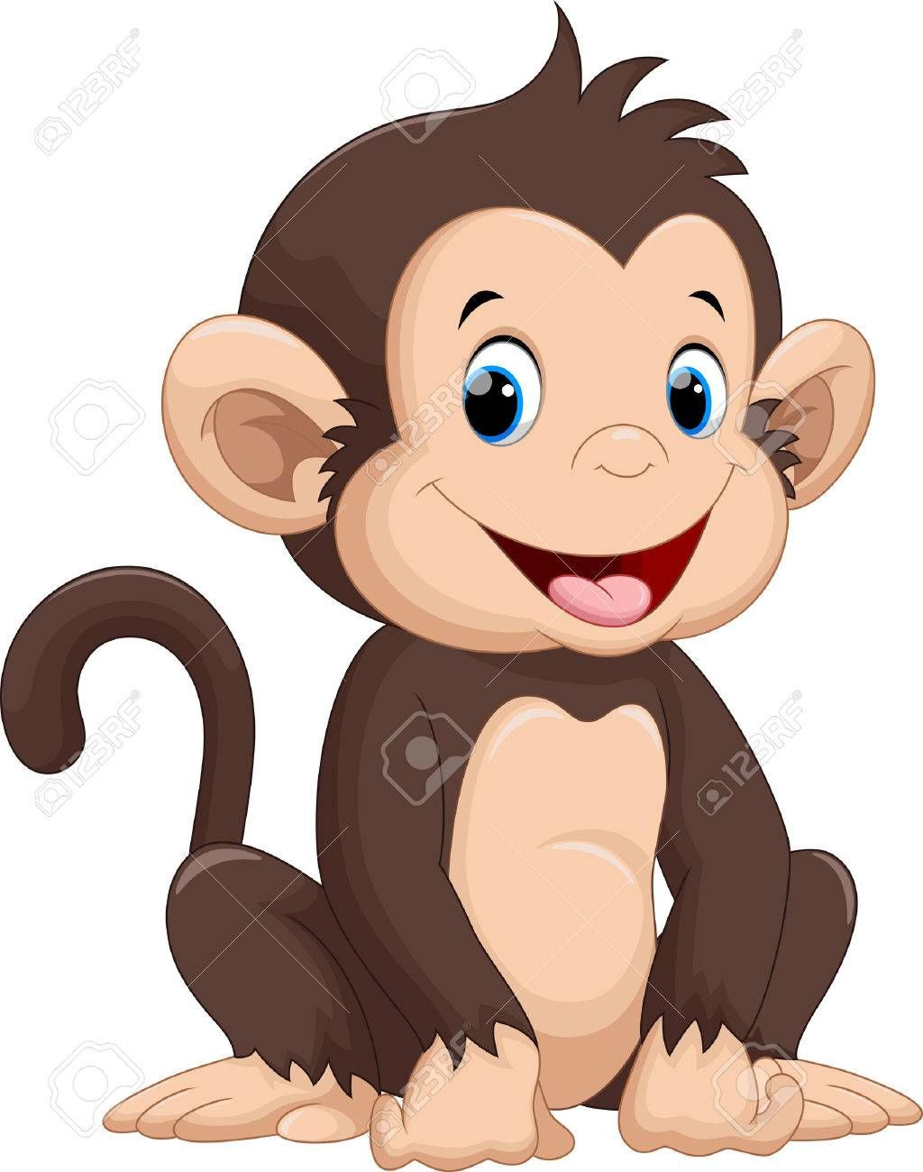 Cute Monkey Cartoon Monkey Illustration Cartoon Monkey Monkey Drawing