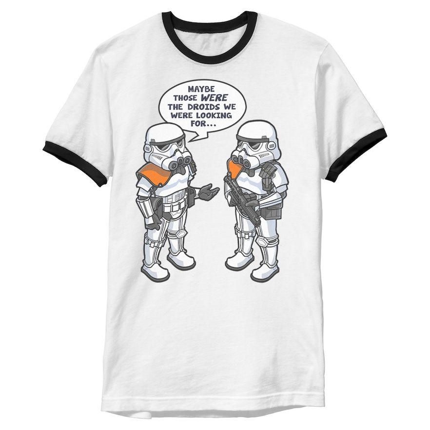 The Droids Star Wars Men/'s Black T-Shirt Tees
