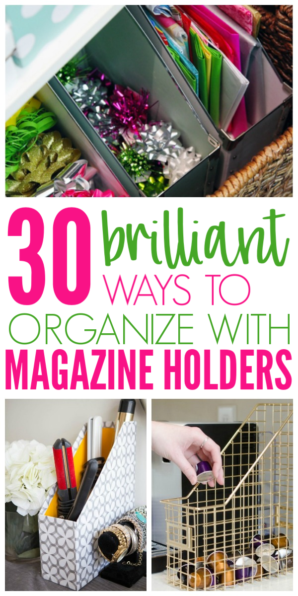 Photo of 30 Clever Ways to Organize With Magazine Holders – Organization Obsessed