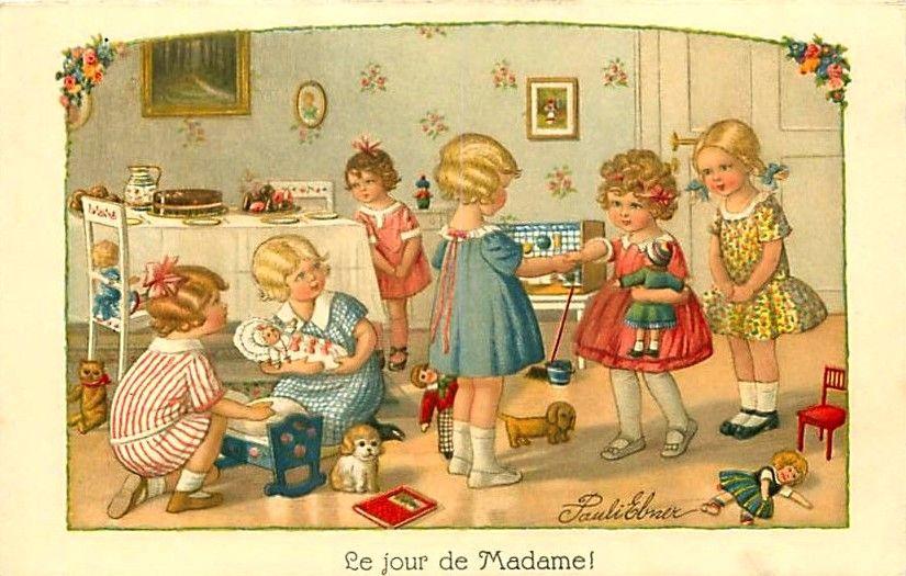 Pauli Ebner (1873-1949) — Old Post Cards  (825x525)