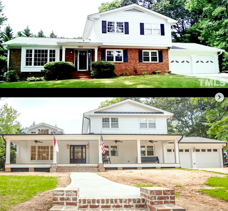 Split Level Home Exterior Makeover: Can A Raised Ranch Home Become A Traditional Home?
