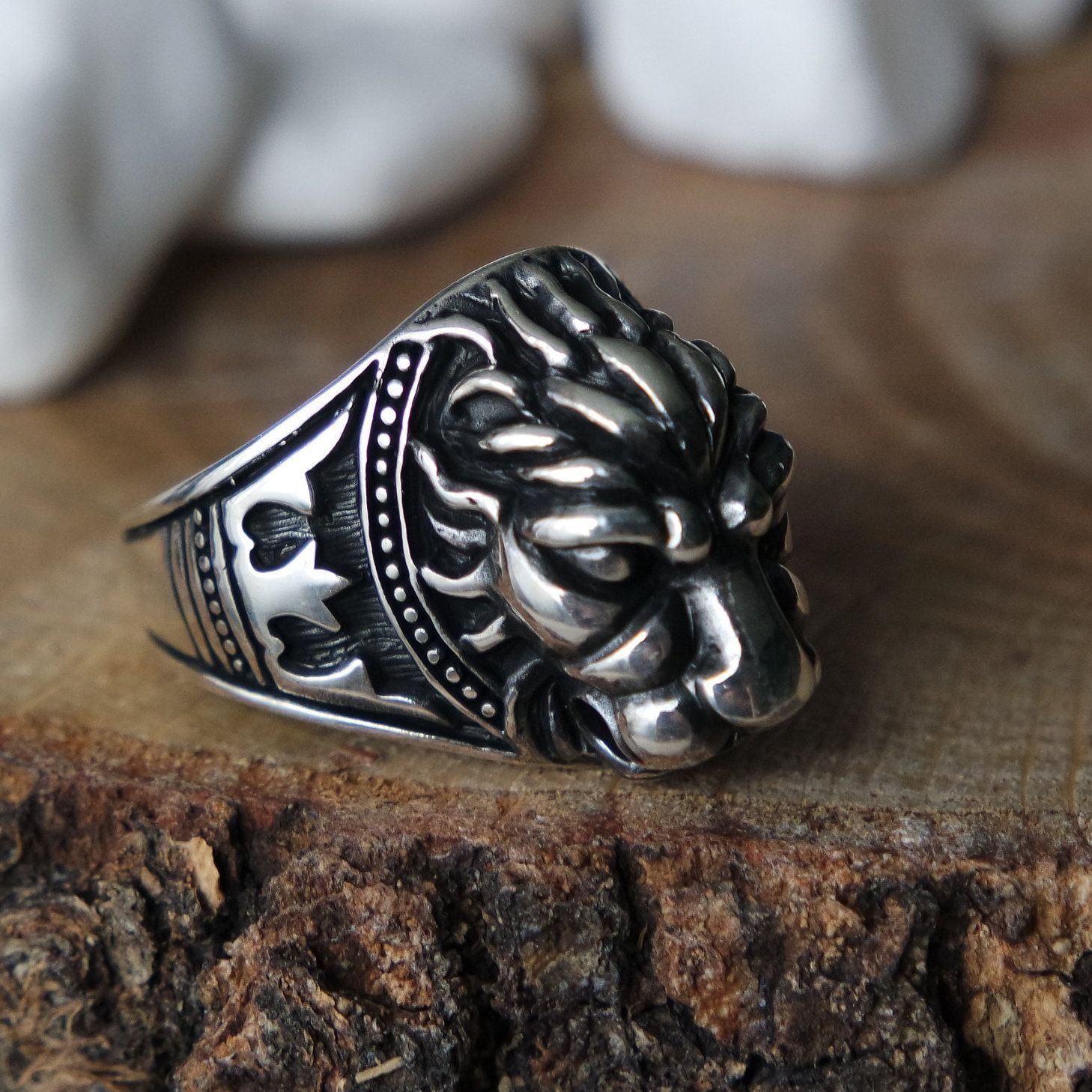 Turkish Handmade Silver 925k Turquoise Men/'s Ottoman Style Ring Free Resize Fast Shipping